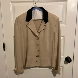 St. John Collection beige knit cardigan jacket- 12